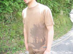 ヘンプ柿渋染めTシャツ 木立|麻と柿渋染め・草木染めのみつる工芸