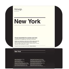 New York,Travel-sized essentials/housed in a smart, black case.