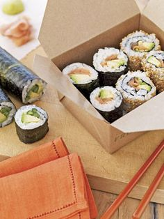 Make your own sushi! Get the recipe for this Salmon-Avocado roll. #recipes