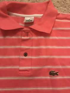 1a313dea19 Lacoste Polo Shirt Pink & White Stripped #fashion #clothing #shoes  #accessories #
