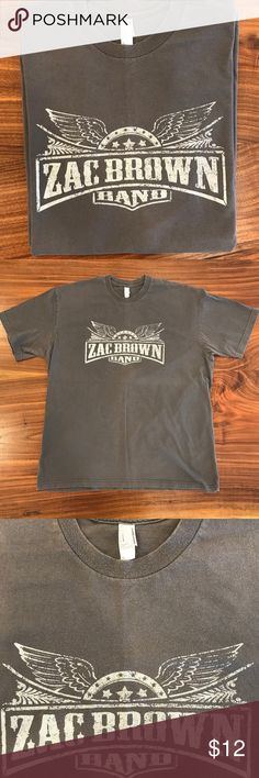 Men's Zac Brown Band Concert Tshirt Soft, well worn, broken in, maybe even some fading and discoloration from the love.  Tag size is XL but it runs a little on the smaller side of that, trending toward L. American Apparel Shirts Tees - Short Sleeve