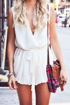 Chic White Romper <3
