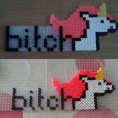 Unicorn, perler beads