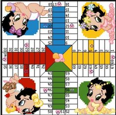 Betty Boop Parchessi game board0