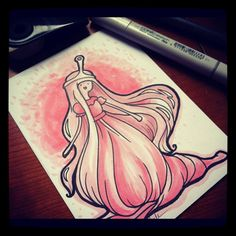 Princess Bubblegum marker sketch