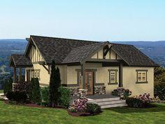 Tudor Cottage Plan, 035G-0019. 1050 sq ft. 2 bed *****