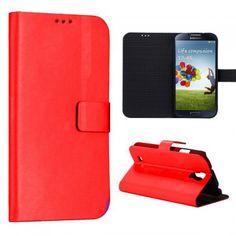 Funda Samsung Galaxy S4 - Flip Wallet - Roja