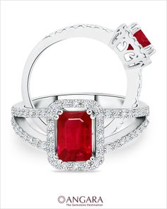 Fiery Red Ruby a symbol of 'True Love' - A traditional gift for those celebrating their 15th or 40th anniversaries.