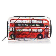 Women's Fabric Wallet // London Bus // change by ZIZAccessories