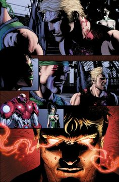 Page from DC Comics Grifter series. Pencils by Scott Clark, inks by me (Dave Beaty), and colors by Andrew Dalhouse. #DCComics #Grifter