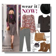 """""""Wear it Now - Diane von Furstenberg fw 2015/16 look for less"""" by federica-m ❤ liked on Polyvore featuring MANGO, Cable & Gauge, women's clothing, women, female, woman, misses, juniors, GetTheLook and LookForLess"""
