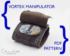 Vortex Manipulator - Doctor Who Cosplay - PDF Sewing Pattern - River Song - Captain Jack Harkness - Missy