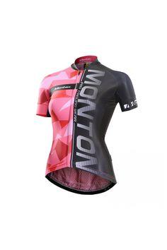 Monton Womens Short Sleeve Mesh Cycling Jersey Race Fit 4a8e2cb74
