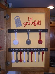 Measuring cups and spoons organization