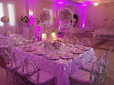 White & rose wedding