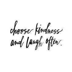 """Choose Kindness & Laugh Often"" #wednesdaywisdom . . . #positivevibes #positivity #qotd #potd #quotes #quote #positive #natural #organic #naturalbeauty #organicbeauty #health #wellbeing #wellness #naturalhealth #organichealth #blogpost #bloggers #naturalskincare #healthyliving #fitness #naturalproducts #organicproducts #kindness #laughter"