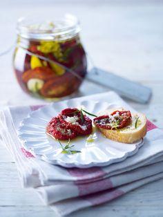 Super aromatisch! Die eingelegten Tomaten schmecken super auf Baguette.