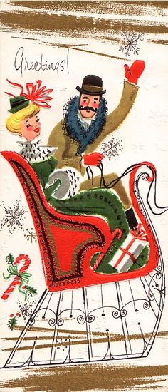 Unused Christmas Card ~ (da 61)