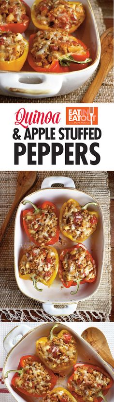 These Quinoa and Apple Stuffed Bell Peppers pay tribute to the yumminess of pork, by adding it's perfect compliments - apples and maple syrup.