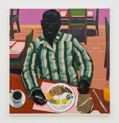Kerry James Marshall (American, b. 1955): Untitled (Two Eggs Over Medium, Sausage, Hash Browns, Whole Wheat Toast), 2017.