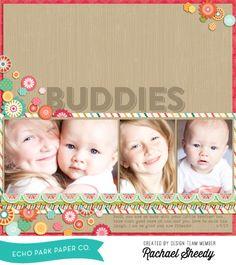 Buddies by Rachael Sheedy - Digital Tutorial #echoparkpaper