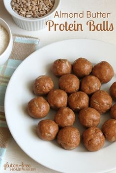 When you need a quick snack, these naturally sweetened Almond Butter Protein Balls will help sustain you (or your kids), and they taste great too!