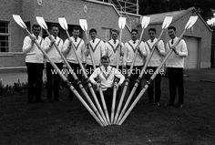Members of the Garda Rowing Club resplendent in their Gaeltarra Eireann sweaters. Rowing Club, Photo Archive, Ireland, Irish, Sports, Sweaters, Hs Sports, Irish Language, Sweater