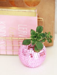 DIY Disco Ball Succulent Planters