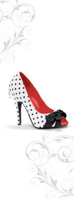 Vintage style heels...TO cute!