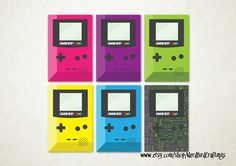 "GAMEBOY COLOR 2"" x 1 1/3"" Rectangle Sticker Pack"