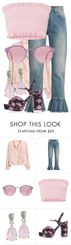 """Chibiusa-Sailor Moon"" by blueangel16-001 ❤ liked on Polyvore featuring H&M, MSGM, RetroSuperFuture and Topshop"