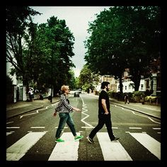 Abbey Road in London Near Abbey Road Studios where the Beatles recorded their albums