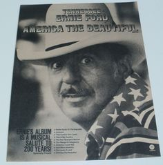 Ernie Ford Music Ad Beautiful America Hit Album Full Page Flyer