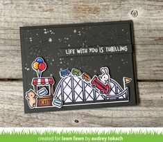 Lawn Fawn Intro: Coaster Critters, Coaster Critters Slide on Over Add-On, Bunting Borders - Lawn Fawn