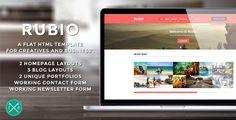 Rubio - Flat HTML5 Template