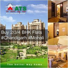 Just 1 Km from Chd 3+1/4+1 BHK Luxurious Apartments.  Get flexible payment plans to enjoy world class lifestyle  Visit at :http://bit.ly/1M2eRzD Call Now : 9888449029