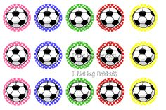 Soccer bottlecap images for your hairbows