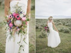 Boho Beauty: Utah bridal concept shoot by Jessica White Photography // Dress from Ruche // Bouquet by Studio Stems // Hair and makeup by Hair and Makeup by Steph Floral Wedding, Wedding Flowers, Wedding Dresses, Our Wedding, Dream Wedding, Jessica White, Bridal Shoot, Flower Crown, White Photography