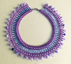 Schema for another beads magic collar.  Again, vertical netting:  Easy and colorful.  #Seed #Bead #Tutorials