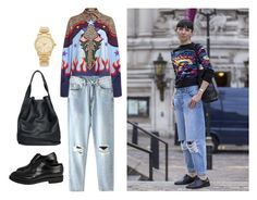 """""""Statements Shirt Inspiration"""" by yourism on Polyvore featuring Mary Katrantzou, christopher. kon, Michael Kors, gold and polyvoreeditorial"""