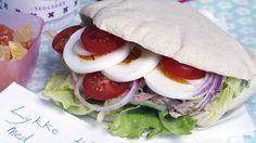 Pitabrød med egg og tunfisk - Lunsj- og matpakkeideer - Frokost/lunsj/brunsj - MatPrat