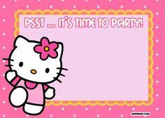 Free Printable Hello Kitty Birthday Invitations For Lynda