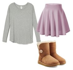 """""""Untitled #31"""" by sherrysands ❤ liked on Polyvore featuring UGG Australia, women's clothing, women's fashion, women, female, woman, misses and juniors"""