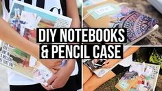 diy back to school supplies dark blue pencil case - YouTube