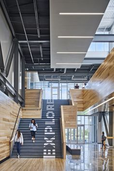 DLR Group and Gould Evans has designed the Missouri Innovation Campus, a school that is changing the way students experience education, located in Lee's Summit, Missouri. Missouri Innovation Campus – Education Published by Maan Office Interior Design, Office Interiors, Innovation, Environmental Graphic Design, Workplace Design, Design Studio, Commercial Design, School Design, Bauhaus