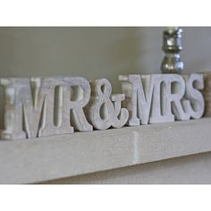 Mr & Mrs Sign Light Wood