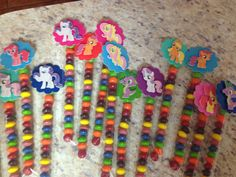 12 MLP my little pony favors bags. Candy bags by HappyFacedKids