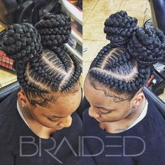 Braids are a great way to style your hair and then not have to think about it again. In fact, with braids, you can keep them in for months at a time and not hav Braided Bun Hairstyles, Braided Hairstyles For Black Women, African Braids Hairstyles, Little Girl Hairstyles, Cornrows Updo, Wedding Hairstyles, Teenage Hairstyles, Black Girl Braids, Braids For Black Hair