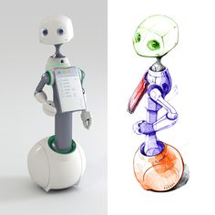 HOMANT | Robot-Manager by Igor Lobanov, via Behance