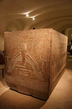 Red granite sarcophagus box of Ramesses III Dynasty, reign of Ramesses III, c. BC, Valley of the Kings, tomb of Ramesses III. Ancient Egyptian Artifacts, Ancient Ruins, Ancient History, Ancient Egypt Pyramids, Luxor Egypt, European History, Ancient Greece, Art History, American History